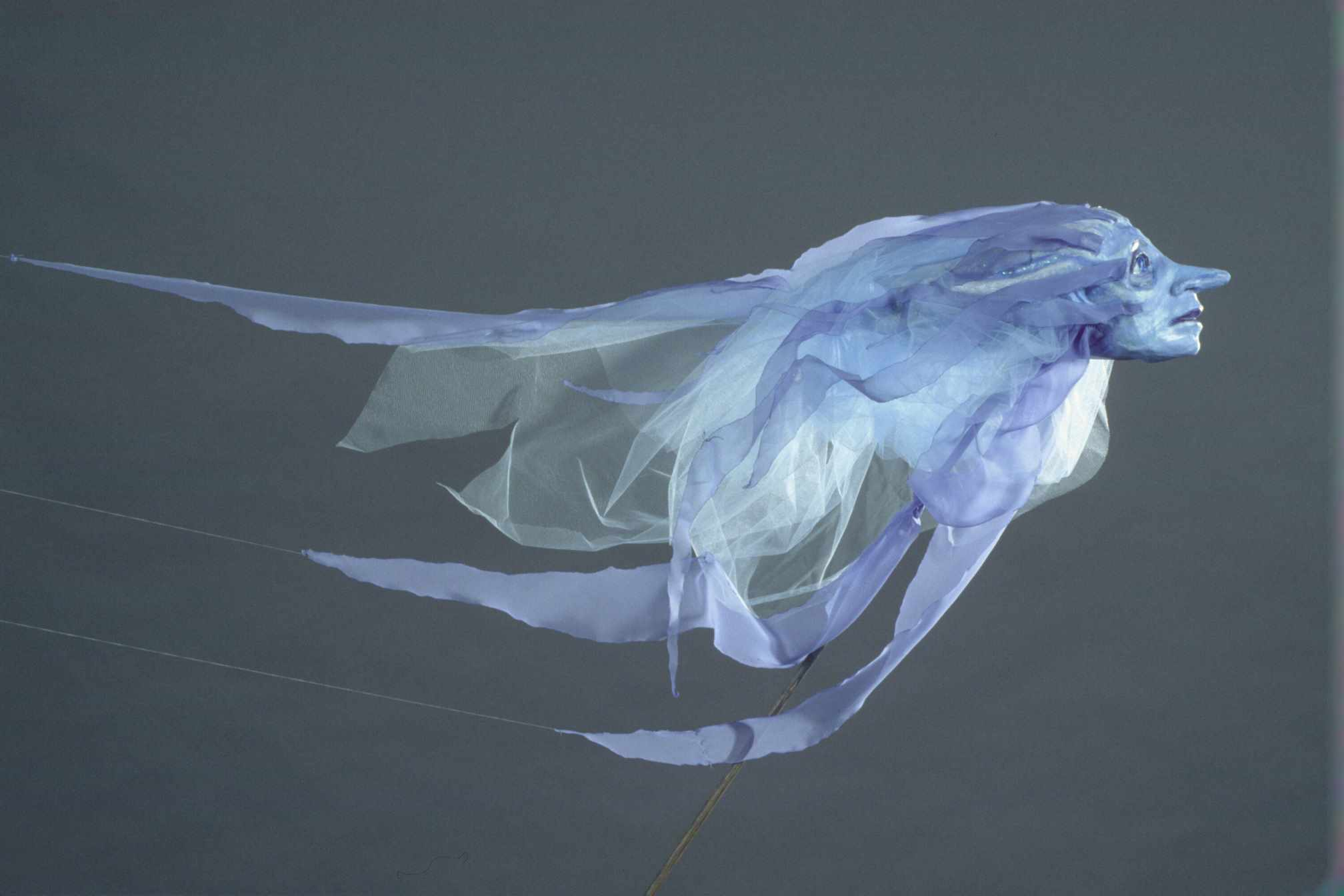 Floating airy rod puppet of the wind